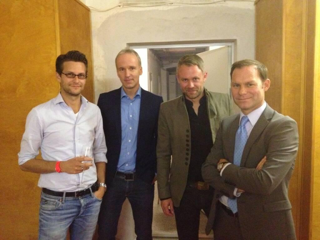 #meinewahl Patrick Minar (Schneider Minar Jenewein Consulting), Christian Drastil, Niko Alm (Neos), Gernot Bauer (Profil) (23.09.2013)