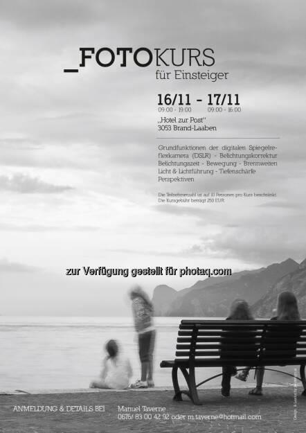 Manuel Taverne, Investor Relations Polytec, gestaltet einen Fotokurs für Einsteiger (23.09.2013)