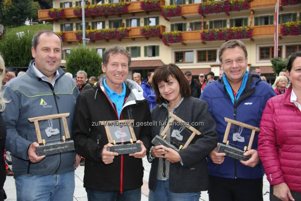 Josef Pröll, Karlheinz Töchterle, Wissenschaftsminister, Maria-Theresia Steger, Günther Platter, Landeshauptmann Tirol, © leisure.at/Paul Bachmann (29.09.2013)