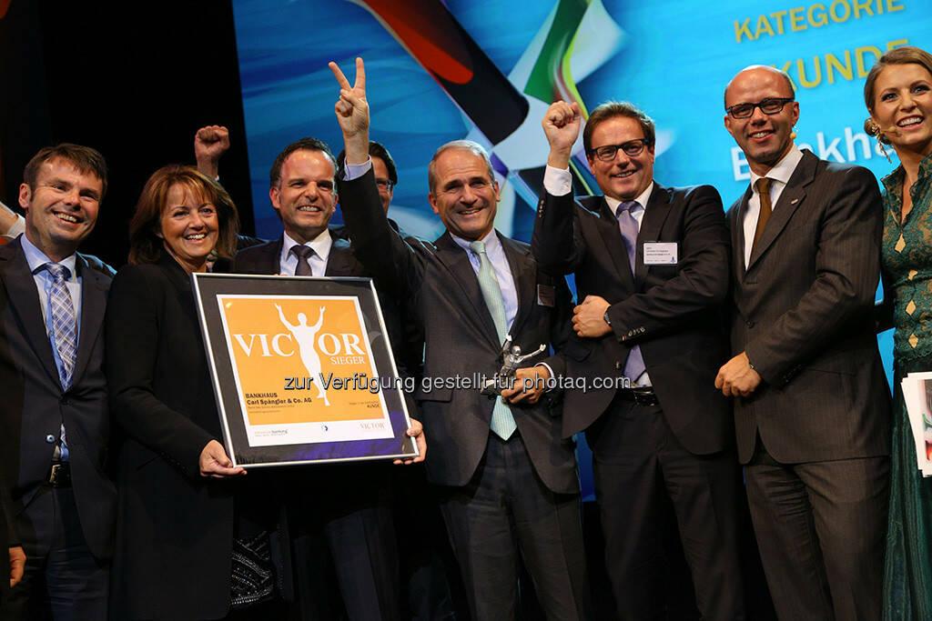 """Bankhaus Spängler gewinnt den """"victor"""" - der Preis wird jährlich an die besten Banken im deutschsprachigen Raum verliehen. (Bild: www.christian-husar.com) (02.10.2013)"""