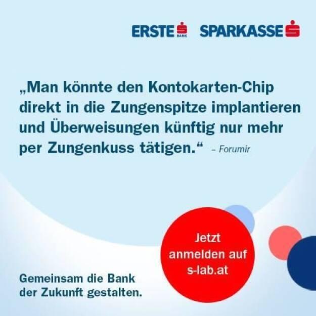 Überweisung per Zungenkuss bei der Erste Bank (07.10.2013)