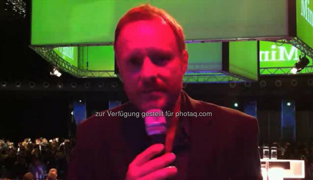 Christoph Grissemann, Komiker Mein Rat: Keine Drogen, keine Frauen, viel Schlaf. Das Video (2:27 min.) unter http://www.whatchado.net/videos/christoph_grissemann, © whatchado (15.10.2013)