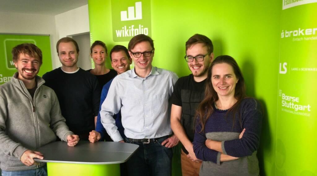 Wikifolio.com - das Team um Andreas Kern (mi.) - Innovator im Bereich Social Trading (16.10.2013)