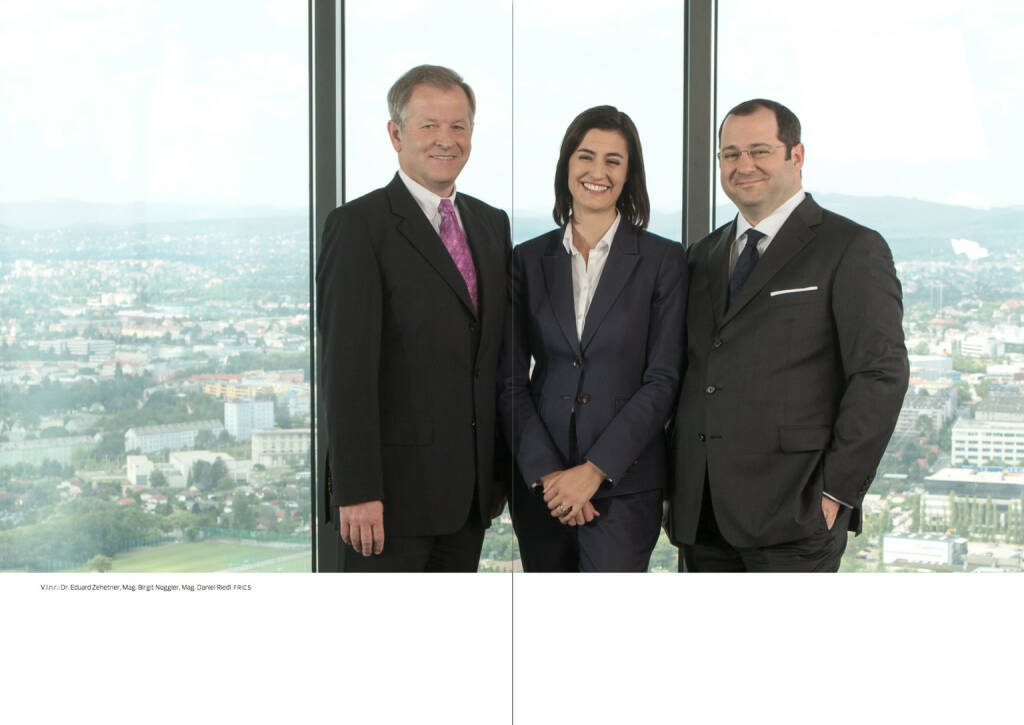 V.l.n.r.: Eduard Zehetner, Birgit Noggler, Daniel Riedl, © Immofinanz (18.10.2013)
