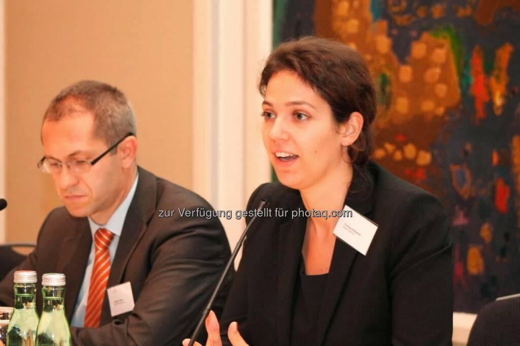 Günther Artner (Erste Group), Christine Reitsamer (Baader Bank), © C.I.R.A. (22.10.2013)