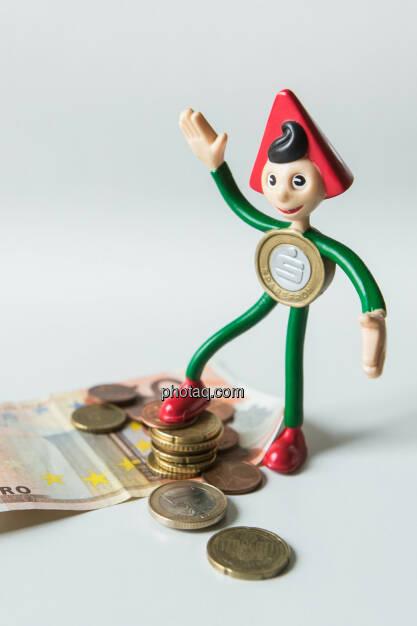 Sparefroh und das Geld, © Martina Draper (26.10.2013)