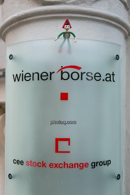 Sparefroh bei der Wiener Börse, © Martina Draper (26.10.2013)