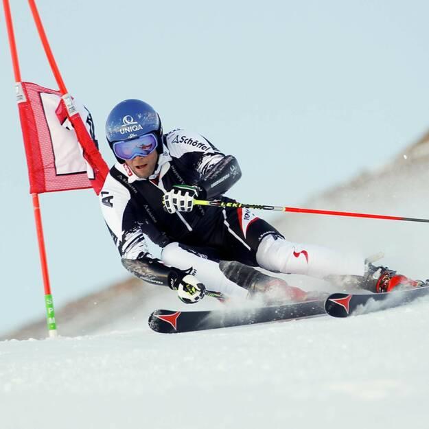 Uniqa: Heute startet unser Benni Raich beim Saisonauftakt im Riesentorlauf von Sölden (c) Uniqa (27.10.2013)