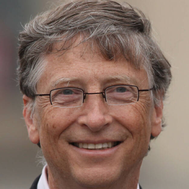 Bill Gates, Microsoft-Gründer (28. Oktober), finanzmarktfoto.at wünscht alles Gute!, © entweder mit freundlicher Genehmigung der Geburtstagskinder von Facebook oder von den jeweils offiziellen Websites  (28.10.2013)