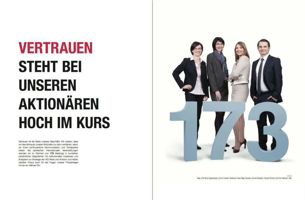 Vertrauen steht bei unseren Aktionären hoch im Kurs, © VIG (28.10.2013)