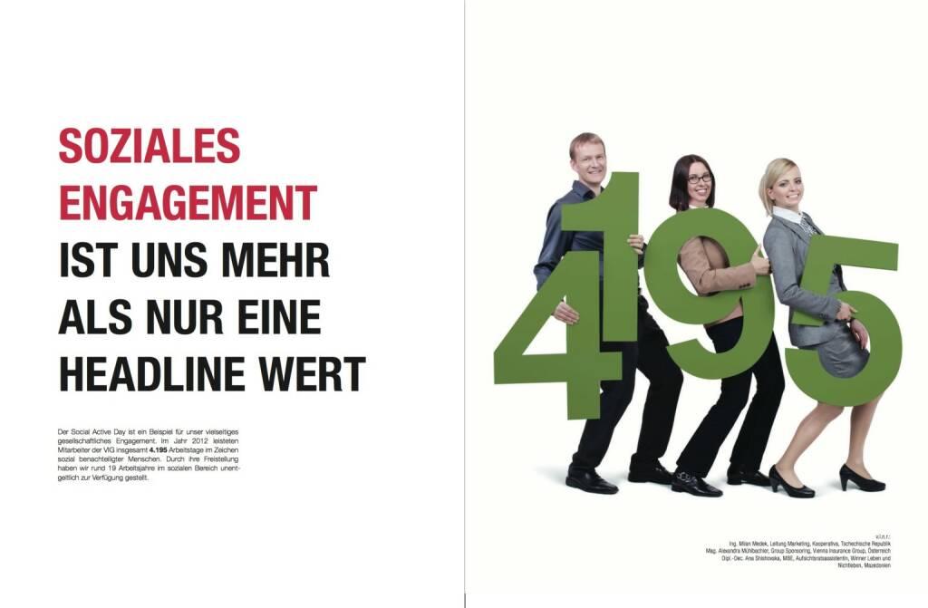 Soziales Engagement ist uns mehr als nur eine Headline wert, © VIG (28.10.2013)