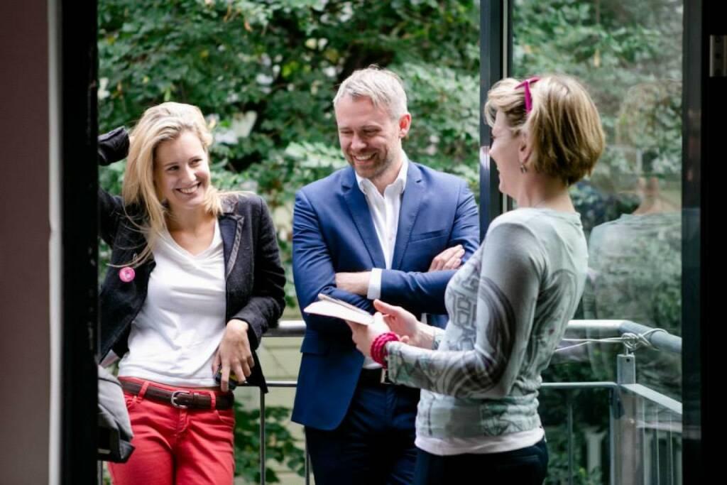Talk, Gespräch, Konversation, Neos: Claudia Gamon, Niko Alm, Beate Meinl-Reisinger (29.10.2013)