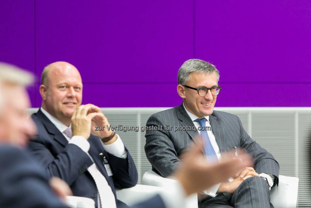 Alexander v. Preen, GF und Partner, Kienbaum Management GmbH, Robert Ottel, CFO voestalpine AG, © Martina Draper für das Aktienforum (30.10.2013)