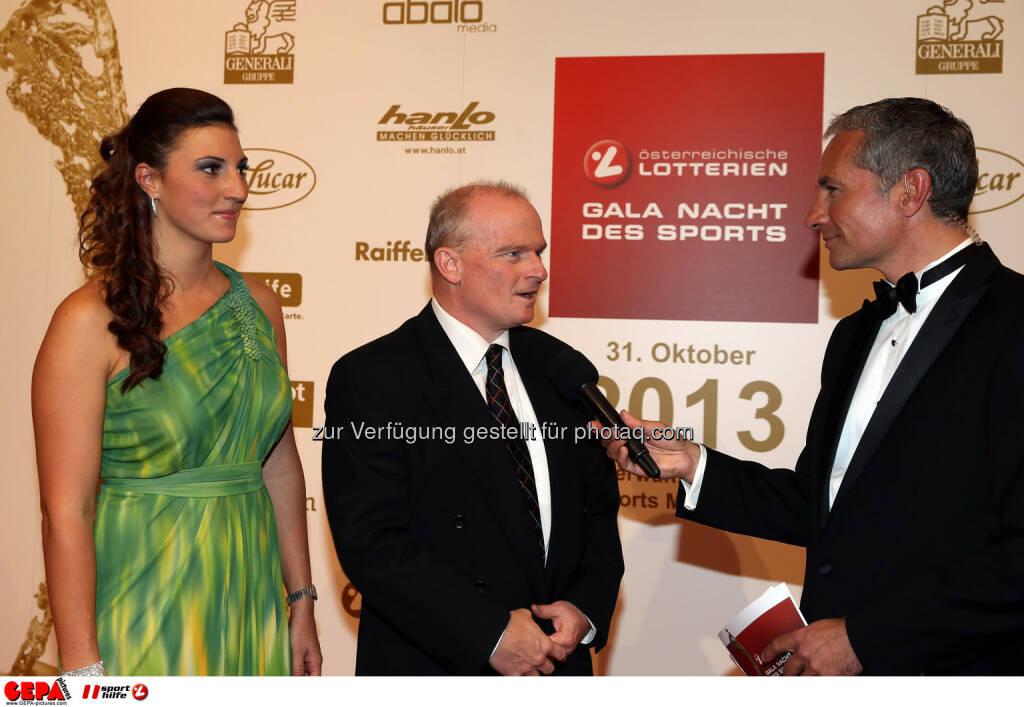 Mirna Jukic, Peter Thirring (Generali) und Rainer Pariasek. Foto: GEPA pictures/ Hans Oberlaender (02.11.2013)