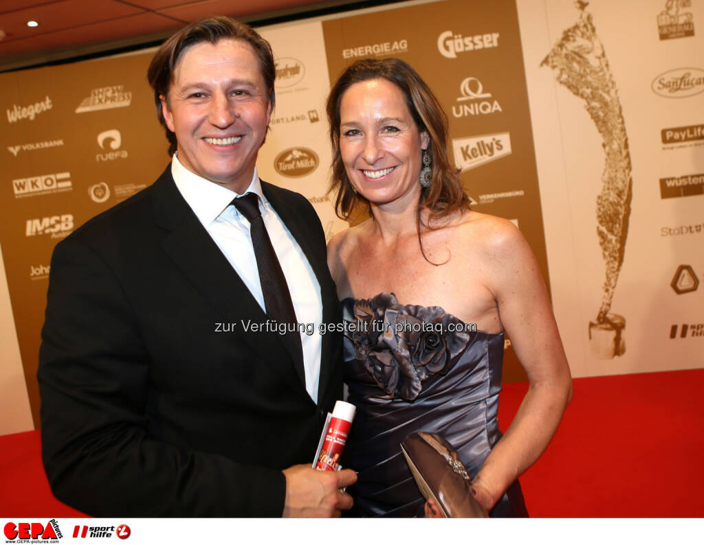 Michael Schuen (Kleine Zeitung) und Barbara Bellowitsch. Foto: GEPA pictures/ Markus Oberlaender (02.11.2013)
