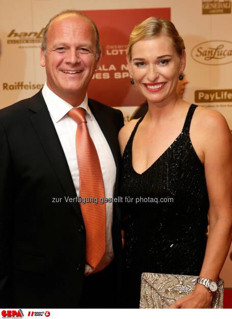 Herwig Straka und Barbara Schett. Foto: GEPA pictures/ Walter Luger (02.11.2013)
