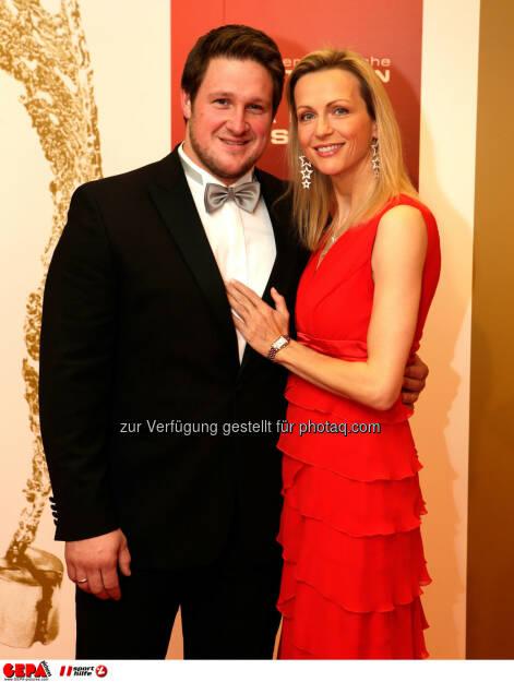 Matthias Steiner  und Inge Steiner. Foto: GEPA pictures/ Walter Luger (02.11.2013)