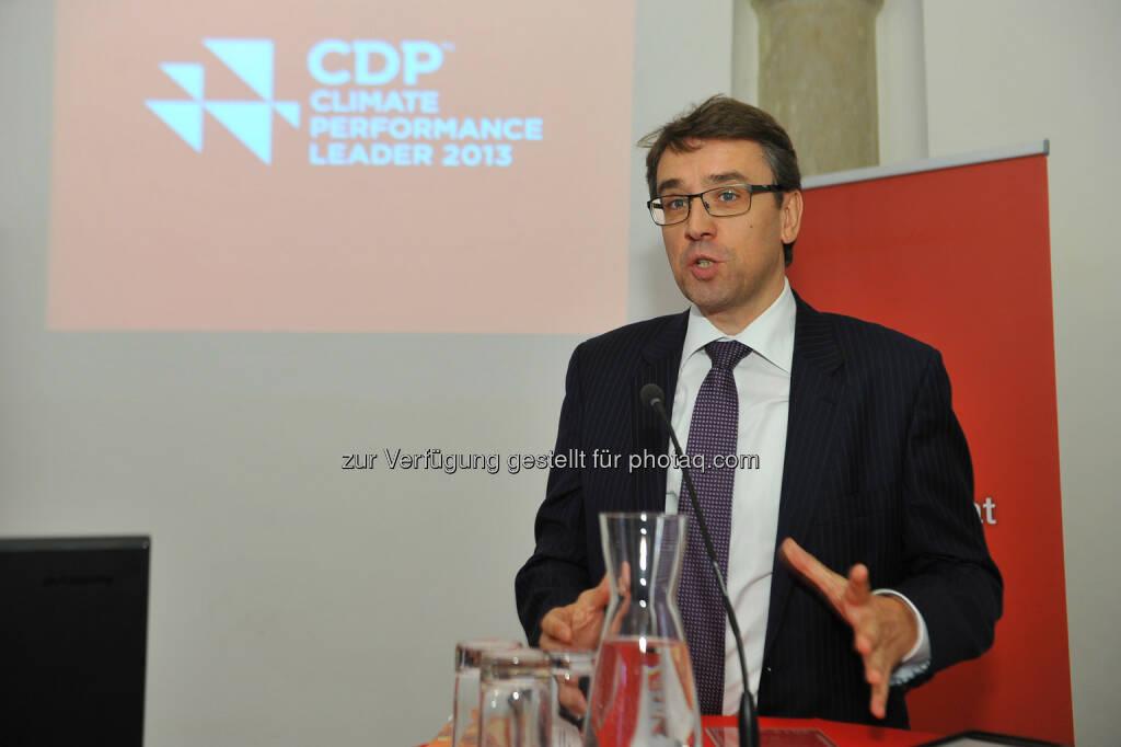 Harald Hagenauer, Post - CDP Österreich Jahreskonferenz 2013, © CDP, Fotograf: Philipp Hutter. (11.11.2013)