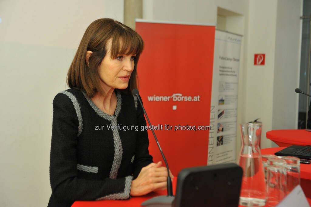 Birgit Kuras (Wiener Börse), © CDP, Fotograf: Philipp Hutter. (11.11.2013)