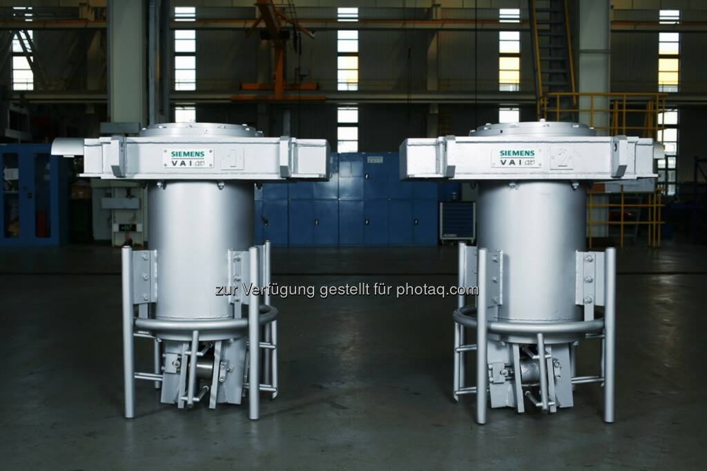 Erste Kompakt-Knüppelgießanlage von Siemens geht in Armenien in Betrieb - Siemens-Kokillen für die Knüppelstranggießanlage von ASCE in Charentsavan, Armenien. (Bild: Siemens) (13.11.2013)