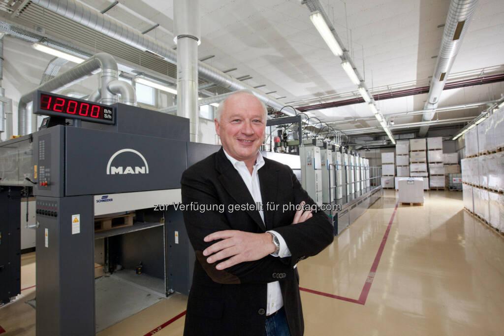 Gerhard Aichhorn, Eigentümer und Geschäftsführer von Samson Druck - das Familienunternehmen feiert heuer sein 135-jähriges Firmenjubiläum (14.11.2013)