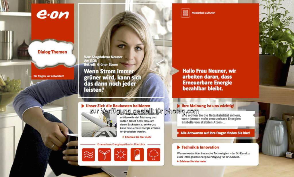 Magdalena Neuner wirbt für e.on (15.12.2012)
