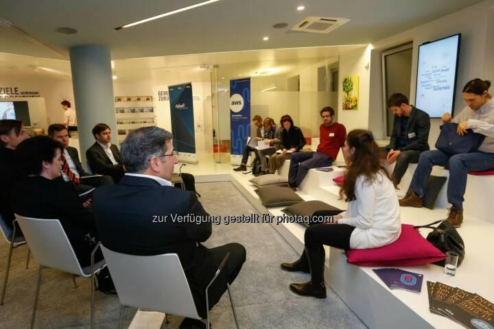 Mit u.a.Irene Fialka hier: Erste Bank Oesterreich  ©w.henisch