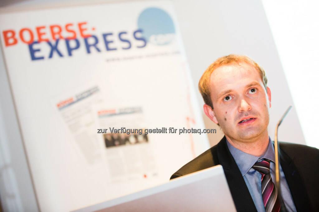 Hannes Haider (Investor Relations Agrana), © BE/Franz Reiterer (21.11.2013)