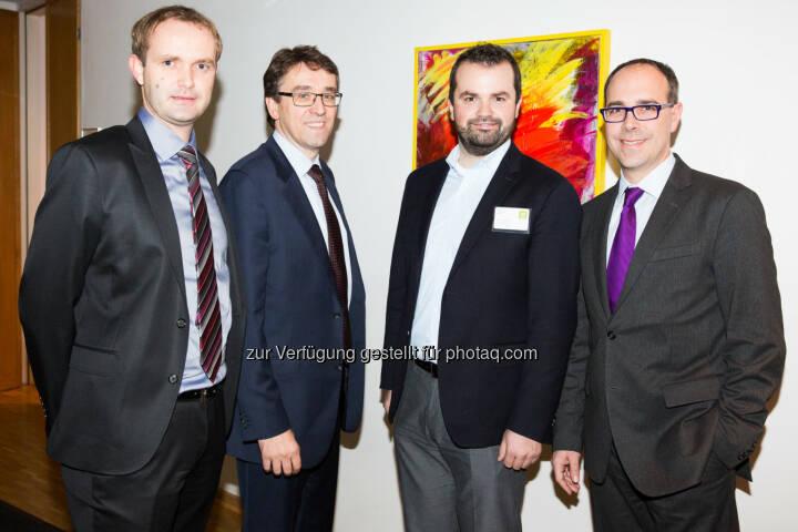 v.li.: Hannes Haider (Investor Relations Agrana), Harald Hagenauer (Investor Relations Österreichische Post AG), Stefan Greunz (Head of Business Development Wikifolio), Andreas Novotny (Wertpapierspezialist Wienwert)