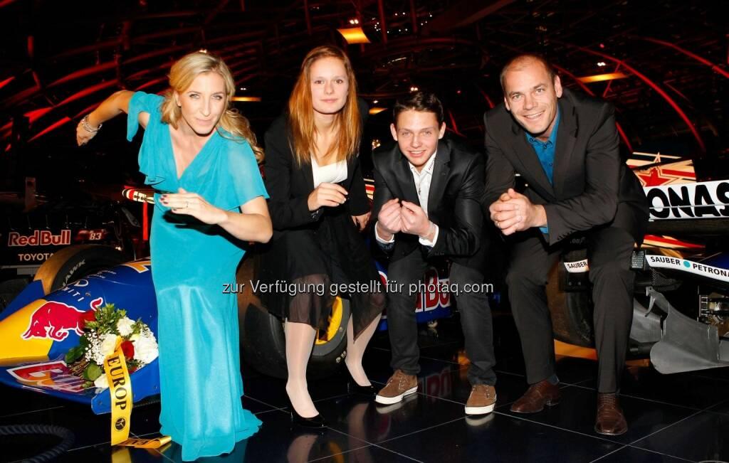 Anni Friesinger-Postma, Vanessa Bittner, Manuel Annewanter und Michael Walchhofer. (Foto: GEPA pictures/ Mathias Mandl) (29.11.2013)