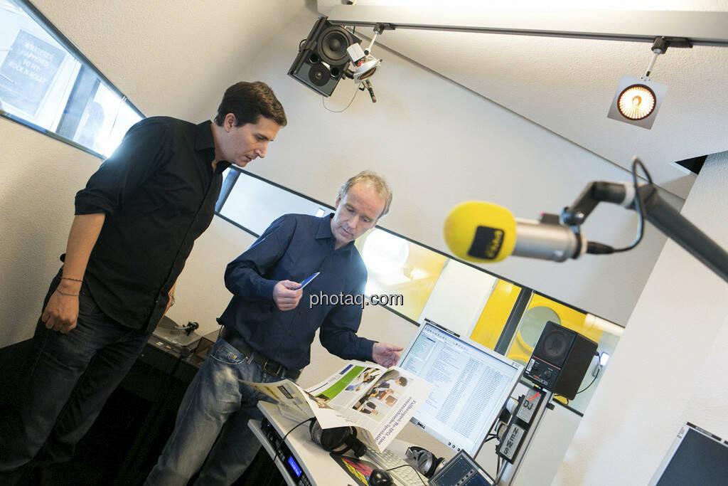 FM4 Connected: Robert Zikmund interviewt Christian Drastil, © Martina Draper (15.12.2012)