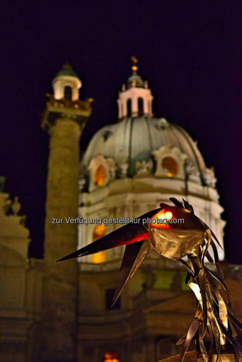 Rabe, Blech, Karlskirche, Wien, Lichter im Advent, www.fotomoldan.at