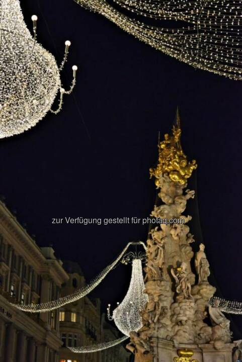 Pestsäule, Graben, Wien, Lichter im Advent, www.fotomoldan.at