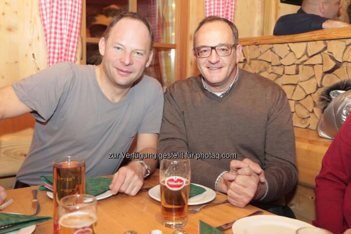 Alexander Knechtsberger (DocLX), Klaus Herzog (GF der KIG Karnischen Incoming GmbH Nassfeld)