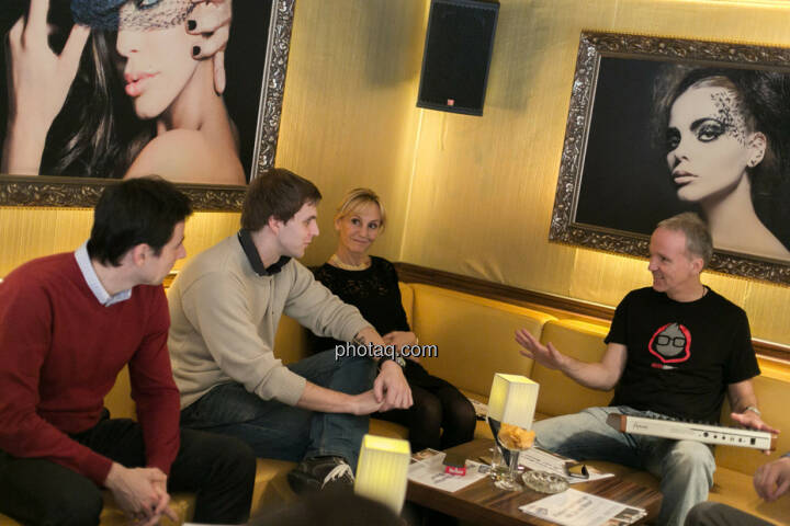 Igor Huic (Donau Invest), Chris Mattura (Investment Banking / Venture Capital), Isabella de Krassny (Donau Invest), Christian Drastil