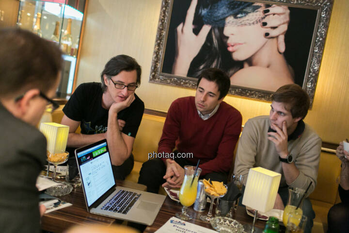 Josef Chladek, Igor Huic (Donau Invest), Chris Mattura (Investment Banking / Venture Capital)