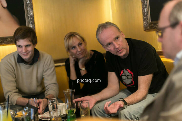 Chris Mattura (Investment Banking / Venture Capital), Isabella de Krassny (Donau Invest), Christian Drastil