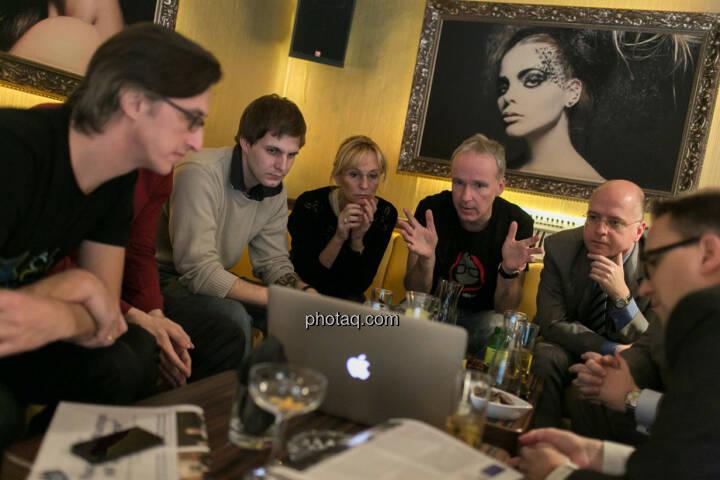 Josef Chladek, Igor Huic (Donau Invest), Chris Mattura (Investment Banking / Venture Capital), Isabella de Krassny (Donau Invest), Christian Drastil, Erwin Hof (Wiener Börse), Stefan Maxian (RCB)