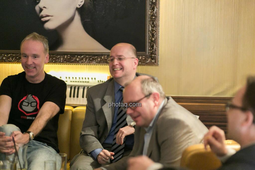 Christian Drastil, Erwin Hof (Wiener Börse), Roland Meier (iQ-Foxx), Stefan Maxian (RCB), © bsn/Martina Draper (12.12.2013)