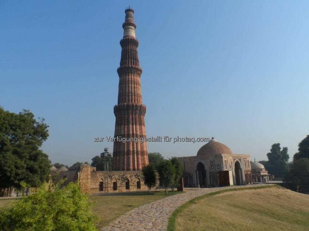 New Delhi - angeblich ist das - oder war es zumindest einmal - ein Minarett, © Andreas Wölfl (15.12.2012)