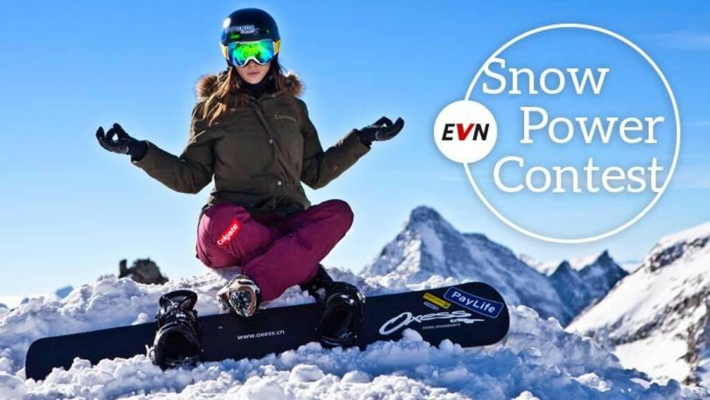 EVN/Facebook: So relaxed Maria Ramberger im Winter. Wie entspannt ihr euch? Wie gebt ihr so richtig Gas? Macht mit und gewinnt ein Aktivwochenende mit der mehrmaligen Snowboardcross-Staatsmeisterin. Ab zum Contest: bitly.com/SnowPowerContest  (25.12.2013)