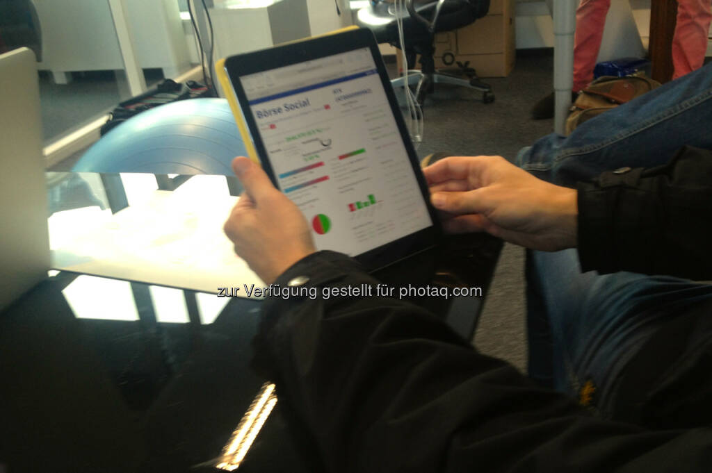 boerse-social.com: Eine frühe Version auf dem iPad (26.12.2013)