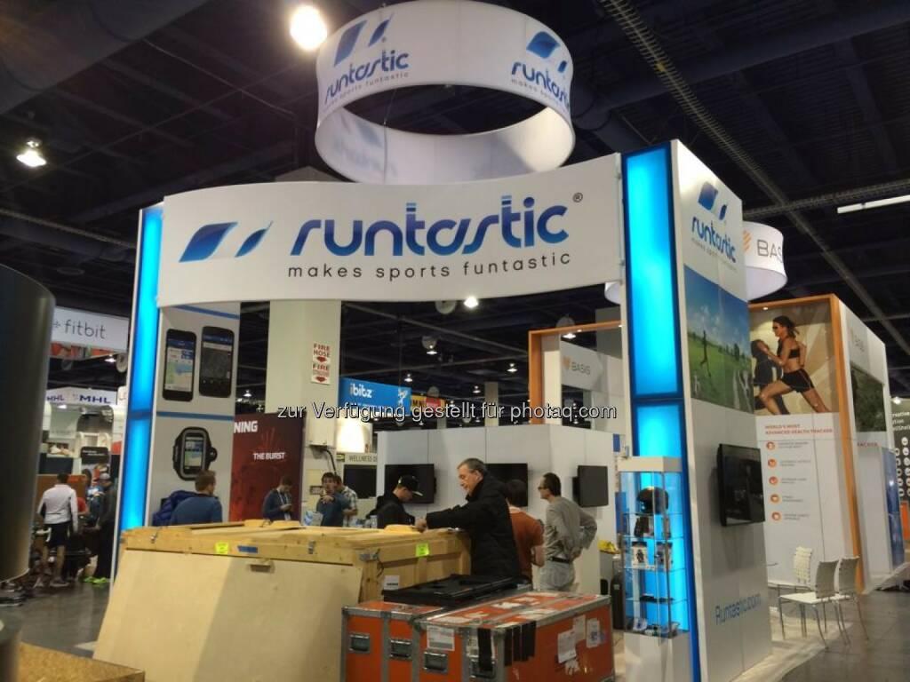 Runtastic auf der CES 2014 in Las Vegas, © Runtastic (07.01.2014)