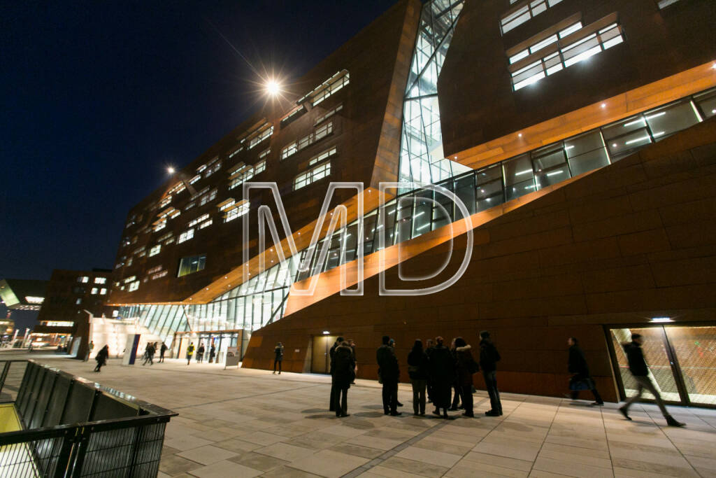 WU Campus Wien, Aussenansicht, © Martina Draper (16.01.2014)
