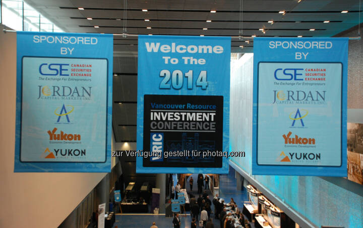 Entrance Banners at the 2014 Vancouver Resource Investment Conference