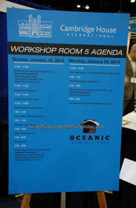 Workshop Room 5 Agenda: 2014 Vancouver Resource Investment Conference