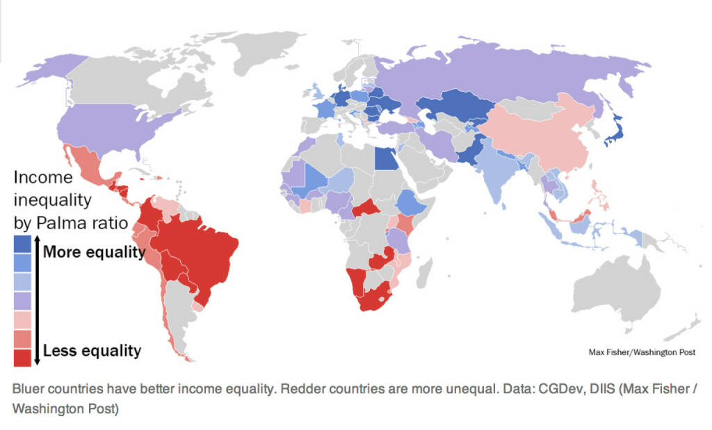 How countries compare on economic inequality (25.01.2014)
