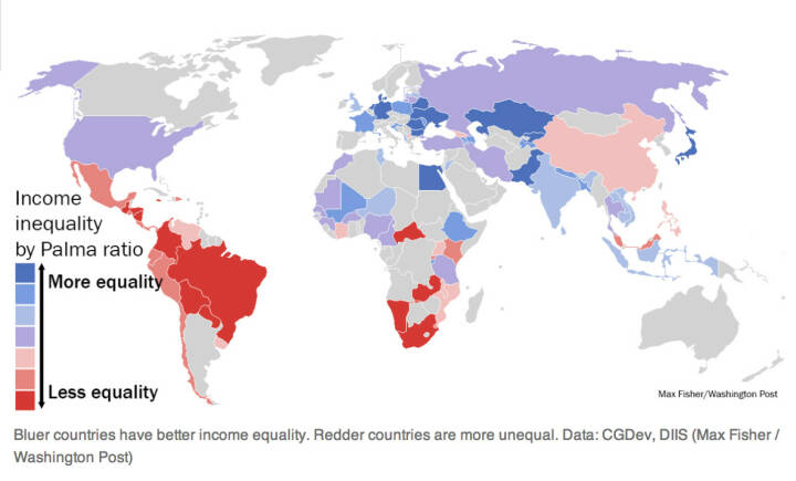 How countries compare on economic inequality