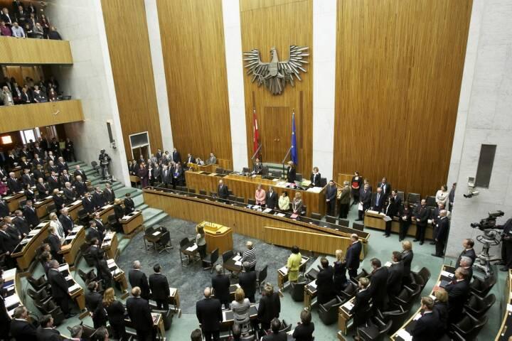 Parlament - Blick von der Galerie in den Nationalratssitzungssaal