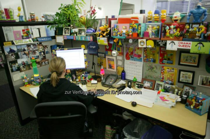 Arbeitsbereich im Google Hauptsitz in Mountain View